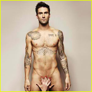 Adam Levine: Naked for Cancer Awareness!