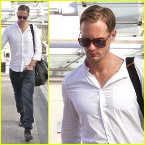 Alexander Skarsgard Works It Out at Equinox
