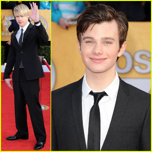 Chord Overstreet & Chris Colfer - SAG Awards 2011 Red Carpet
