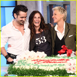 Julia Roberts & Colin Farrell: Happy Birthday, Ellen DeGeneres!