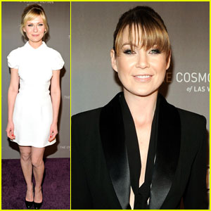Ellen Pompeo & Kirsten Dunst: NYE at The Cosmopolitan!