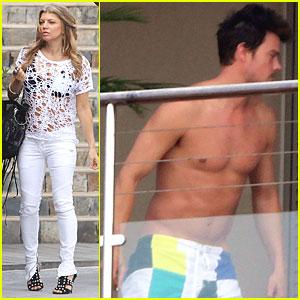 Fergie & Josh Duhamel: Eden Roc Hotel!