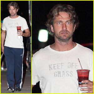 Gerard Butler: Keep Off Grass!