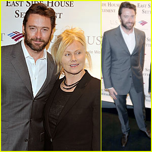 Hugh Jackman: Winter Antiques Show with Deborra-Lee Furness!