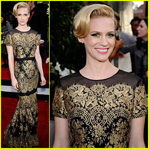 January Jones - SAG Awards 2011 Red Carpet