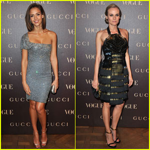 Jessica Alba &#038; Diane Kruger: Vogue Paris Dinner!