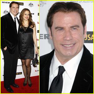 John Travolta: G'Day Gala with Kelly Preston!