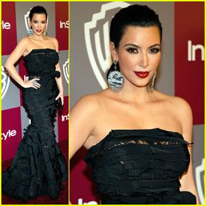 Kim Kardashian: InStyle/Warner Bros. Golden Globes Gal