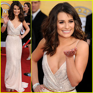 Lea Michele - SAG Awards 2011 Red Carpet