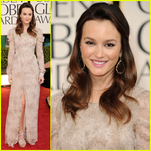 Leighton Meester - Golden Globes 2011 Red Carpet