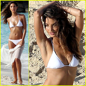 Lily Aldridge: St. Barts Photo Shoot!