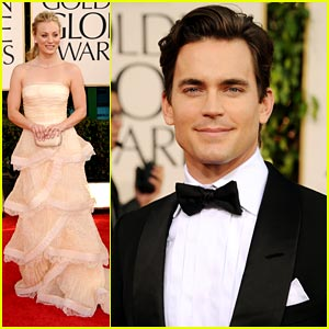 Matt Bomer &#038; Kaley Cuoco: Golden Globes 2011 Red Carpet