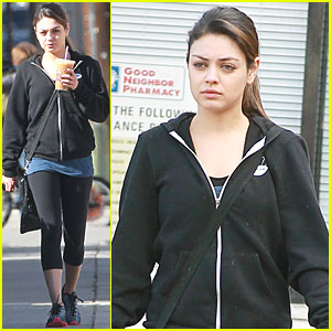 Mila Kunis: Gym with a Pint-Sized Pal