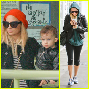 Nicole Richie: Sparrow & Harlow's Playdate Pickup