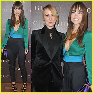 Olivia Wilde: Gucci Celebration with Frida Giannini!