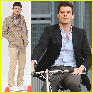 Orlando Bloom: Bike Riding for TV Commercial!