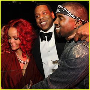Rihanna, Jay-Z & Kanye West: Group Hug!
