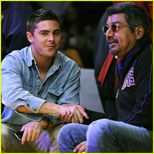 Zac Efron: Lakers Game