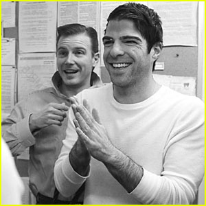 Zachary Quinto: Backstage Pics from 'Angels in America'!