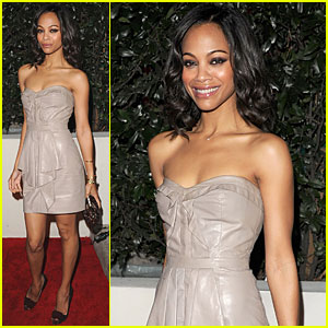 Zoe Saldana Kicks Off Golden Globe Week