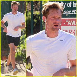 Alexander Skarsgard: Runyon Canyon Runner!