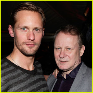 Alexander Skarsgard: Audi Party with Dad Stellan!