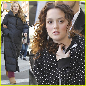 Blake Lively & Leighton Meester Work On Gossip