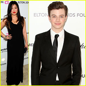 Chris Colfer &#038; Jenna Ushkowitz - Oscar Viewing Party!