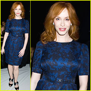 Christina Hendricks: Front Row at Carolina Herrera Show