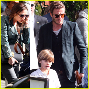 David Beckham & Victoria: Pre-Oscar Party in Beverly Hills!