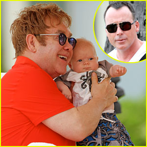 Elton John & David Furnish: Vacation with Baby Zachary!