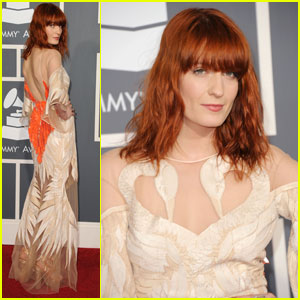 Florence Welch - Grammys 2011 Red Carpet