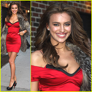 Irina Shayk Visits The Late Show