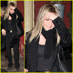Jennifer Aniston: Spotted Pig Birthday Dinner!