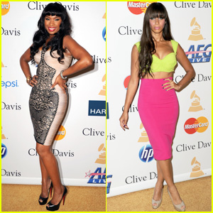 Jennifer Hudson & Leona Lewis: Pre-Grammy Gala Party!