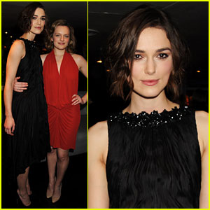 Keira Knightley: 'Children's Hour' Press Night with Elisabeth Moss!