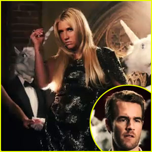 Ke$ha: 'Blow' Video Premiere with James Van Der Beek!