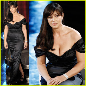 Monica Bellucci: Sanremo Song Festival with Robert De Niro!