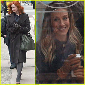 Christina Hendricks: Filming in Boston with Sarah Jessica Parker!