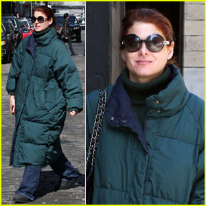 Debra Messing: Bundled Up in Soho