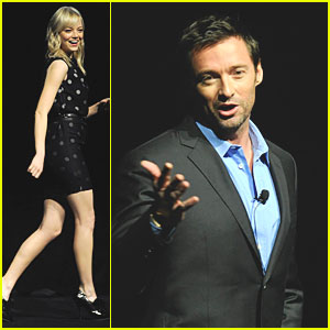 Hugh Jackman & Emma Stone: CinemaCon 2011!