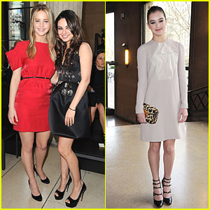 Mila Kunis: Miu Miu Show with Jennifer Lawrence!