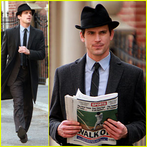Matt Bomer: 'White Collar' Shoot with Tim DeKay