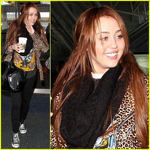 Miley Cyrus Jets Out of New York City