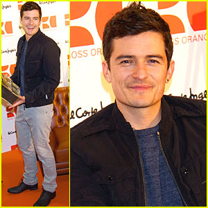 Orlando Bloom: Boss Orange Photo Call in Madrid!