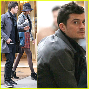 Orlando Bloom & Miranda Kerr: Balenciaga Show for Fashion Week?
