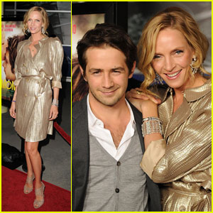 Uma Thurman: 'Ceremony' Premiere with Michael Angarano!
