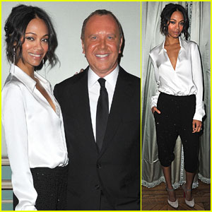 Zoe Saldana: Cocktail &#038; Dinner for Michael Kors!
