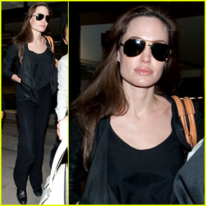 Angelina Jolie: Back in Los Angeles!