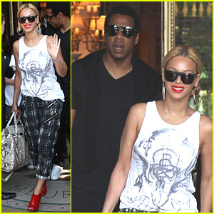 Beyonce & Jay-Z Head Home from Paris